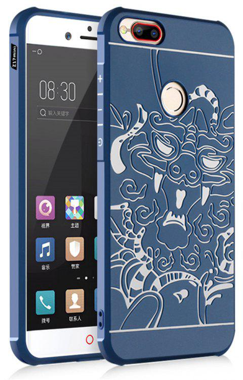 Shockproof Soft Silicone Cover for Nubia Z17 Mini Case Dragon Pattern Fashion Full Protective Phone Case - BLUE