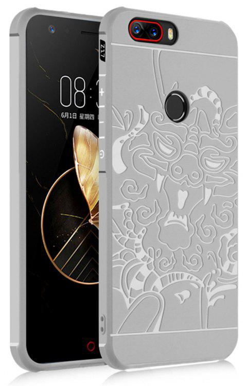 Shockproof Soft Silicone Cover for Nubia Z17 Case Dragon Pattern Fashion Full Protective Phone Case - GRAY