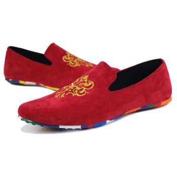 2018 Men Fashion Camouflage Doug Shoes - RED 43