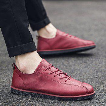 2018 Stylish Spring Little Pu Leather Shoes - RED 40