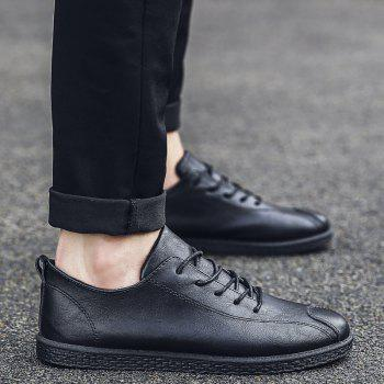 2018 Stylish Spring Little Pu Leather Shoes - BLACK 41