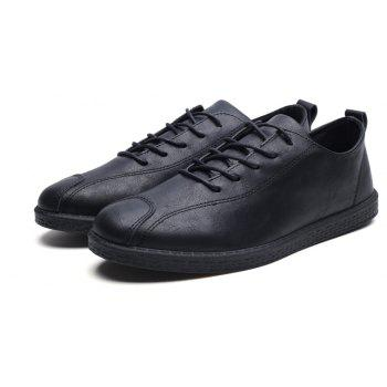 2018 Stylish Spring Little Pu Leather Shoes - BLACK 39