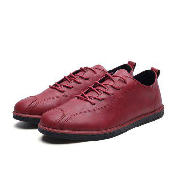 2018 Stylish Spring Little Pu Leather Shoes - RED 43