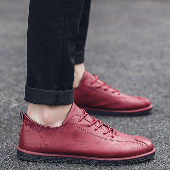 2018 Stylish Spring Little Pu Leather Shoes - RED 41