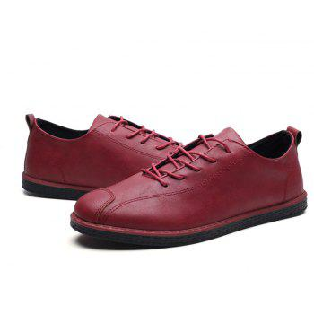 2018 Stylish Spring Little Pu Leather Shoes - RED 42