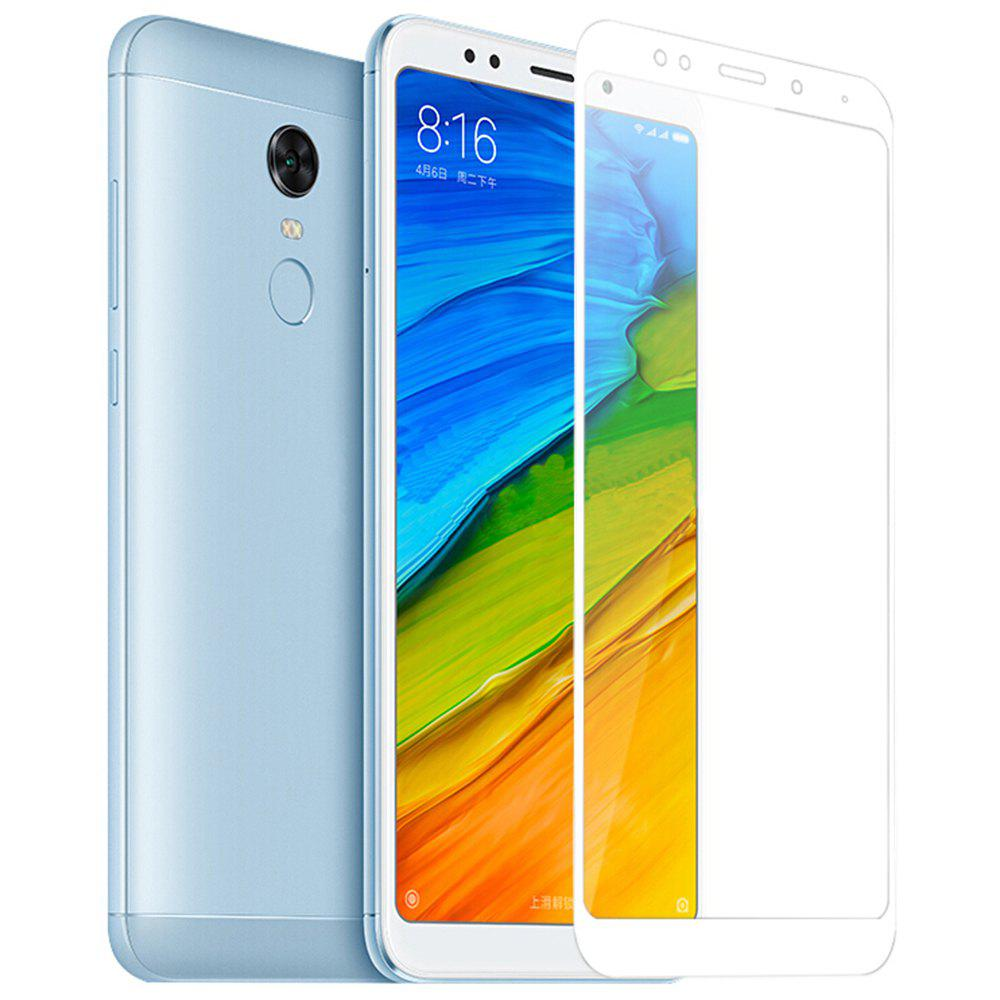 Tempered Glass Screen Protector for Xiaomi Redmi 5 Full Coverage - WHITE