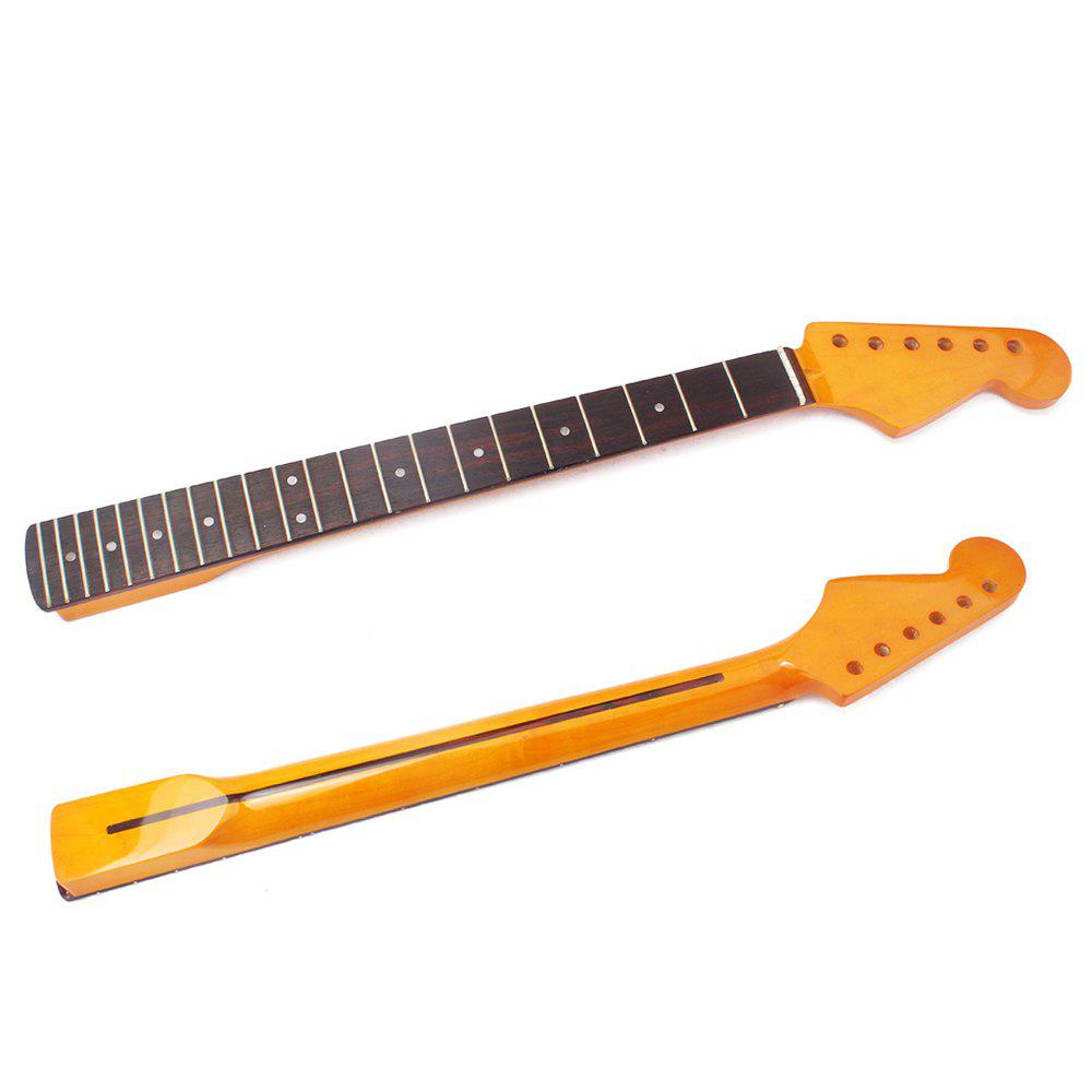 22 Fret Replacement Maple Neck Rosewood Fingerboard for ST Electric Guitar - YELLOW
