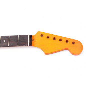 Yellow Electric Guitar Neck 22 Frets Rosewood Fretboard for ST Parts - YELLOW