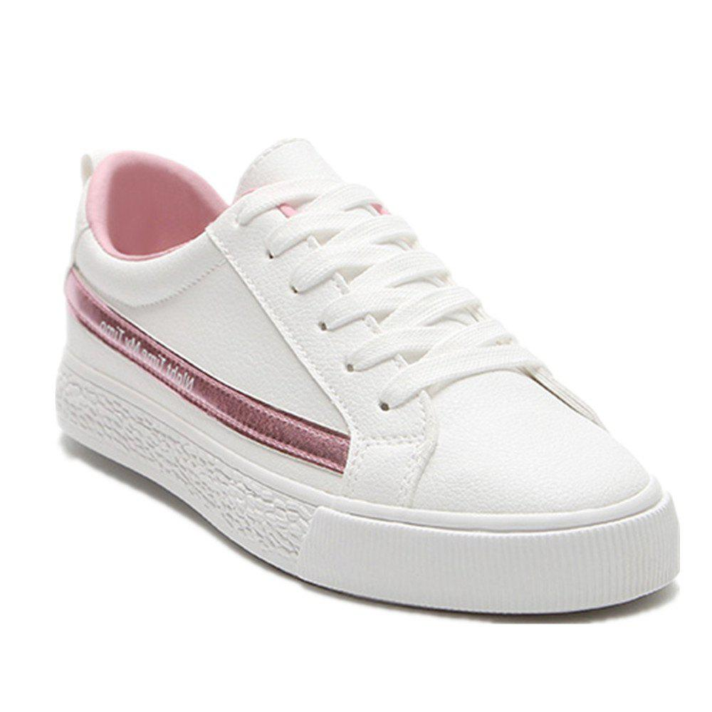 Spring Flat Shoes Street Casual Shoes - PINK 40