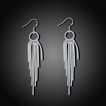 Graceful Long Tassel Drop Earrings Charm Jewelry Gift For Women - SILVER