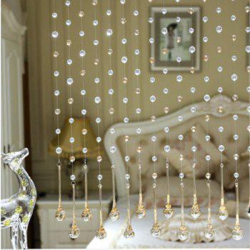 32 Cut Pearl Living Room Partition Porch Crystal Beads Curtain - CHAMPAGNE