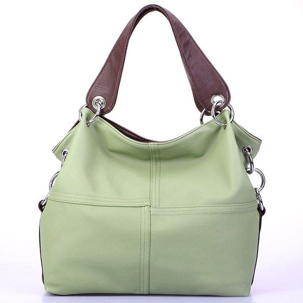 New Ladies High-capacity Shoulder Diagonal Package - LIGHT GREEN