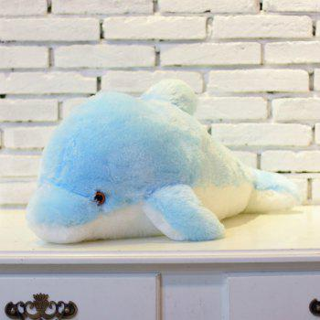 Glowing Dolphin Plush Toy Inductive Luminous with LED Lights Doll for Kids - BLUE 45CM