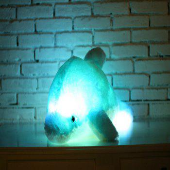 Glowing Dolphin Plush Toy Inductive Luminous with LED Lights Doll for Kids - BLUE 70CM