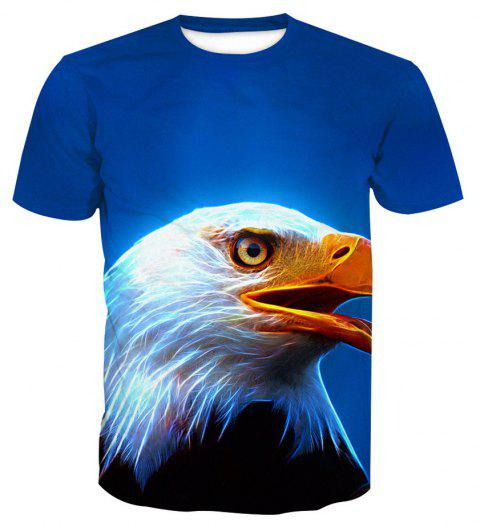Eagle Short-Sleeved Printing T-Shirt - ANIMAL HEAD L
