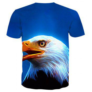 Eagle Short-Sleeved Printing T-Shirt - ANIMAL HEAD 3XL