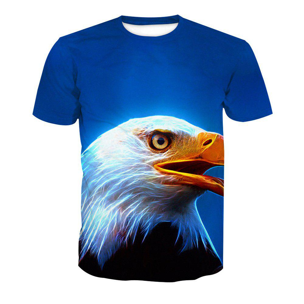 Eagle T-shirt à manches courtes impression - Tête d'Animal 6XL