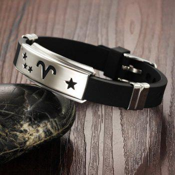 Fashion Men's Bracelet Wristband Stainless Steel Magnetic Clasp Bangle - BLACK A