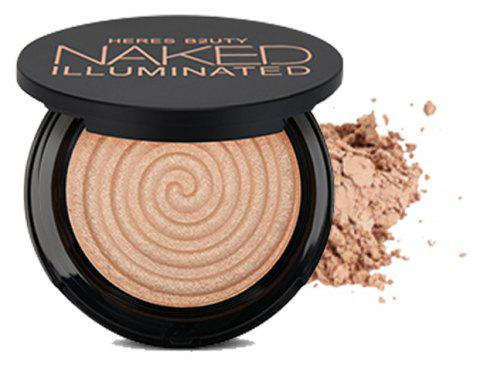 HERES B2UTY Makeup Face Matte Bronze Trimming Highlighter Powder Illuminated Soft Mineral Long Lasting V Shape - 14