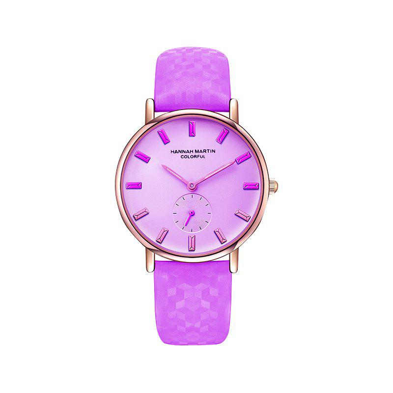 Hannah Martin New Cool Stylish Fashion Discoloration Watches - WHITE/PURPLE