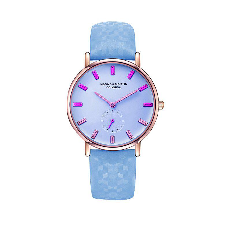 Hannah Martin New Cool Stylish Fashion Discoloration Watches - WHITE/BLUE