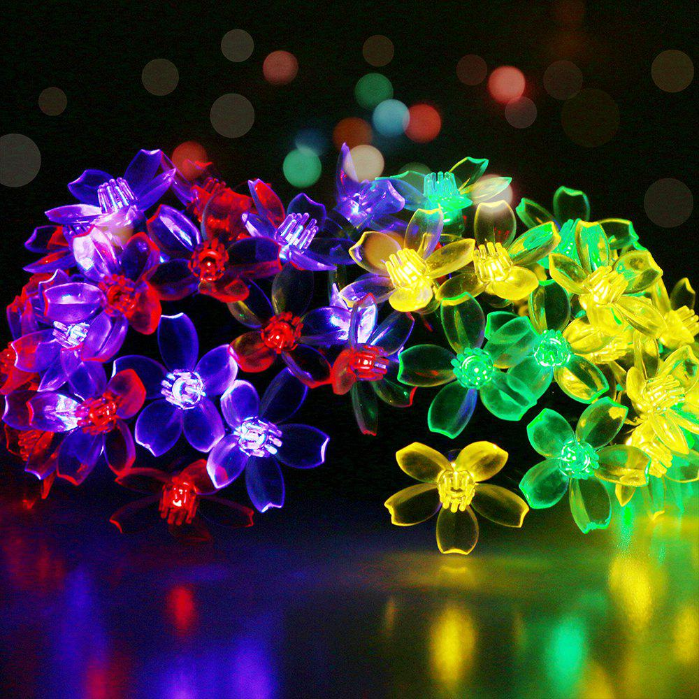 GMY Lighting Imports 50 LED MultiColor Solar Flower Shaped Christmas String Lights Garden Holiday Party Decor - RGB
