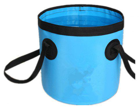 Portable Folding Water Container Lightweight Durable Includes Handy Tool Mesh Pocket - BLUE 12L