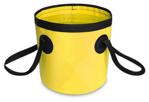 Portable Folding Water Container Lightweight Durable Includes Handy Tool Mesh Pocket - YELLOW 12L