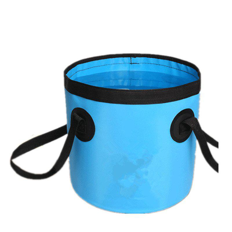 Portable Folding Water Container Lightweight Durable Includes Handy Tool Mesh Pocket - BLUE 20L