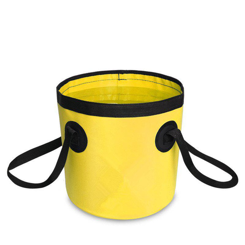 Portable Folding Water Container Lightweight Durable Includes Handy Tool Mesh Pocket - YELLOW 20L