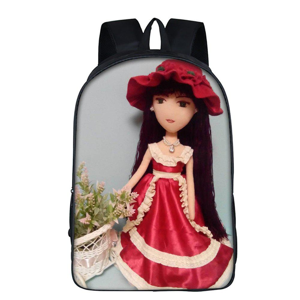 16 Inch Girls Backpack for Daily Use - RED