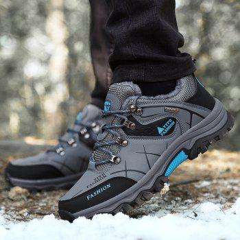 ZEACAVA Plush Spring and Warm Leather Winter  Anti-Skidding Winter Boots - GRAY B STYLE SIZE S 41