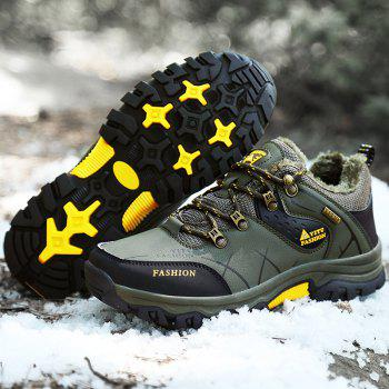 ZEACAVA Plush Spring and Warm Leather Winter  Anti-Skidding Winter Boots - ARMY GREEN 43