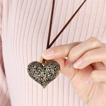 Fashion Peach Alloy Jewelry Necklace - GOLDEN