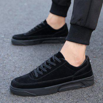 2018 Spring Fashion Men Skateboard Shoes - BLACK 44