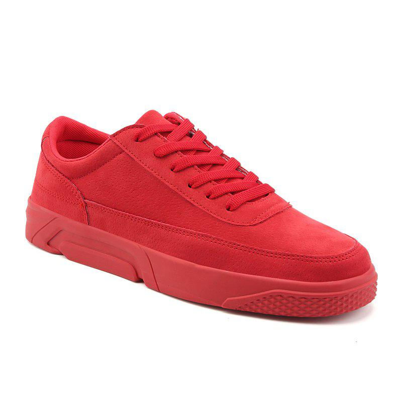 2018 Spring Fashion Men Skateboard Shoes - RED 42