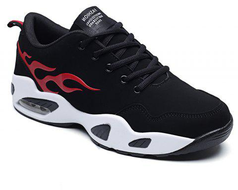 2018 Fashion Air-Cushion Chaussures de sport - Noir et Rouge 42
