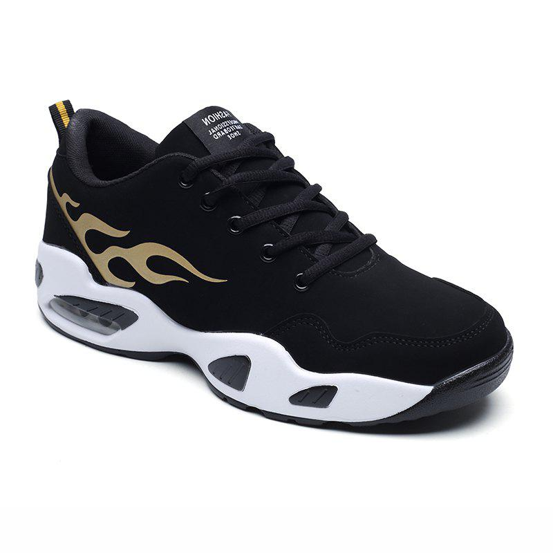 2018 Fashion Air-Cushion Sports Shoes - BLACK/GOLDEN 43