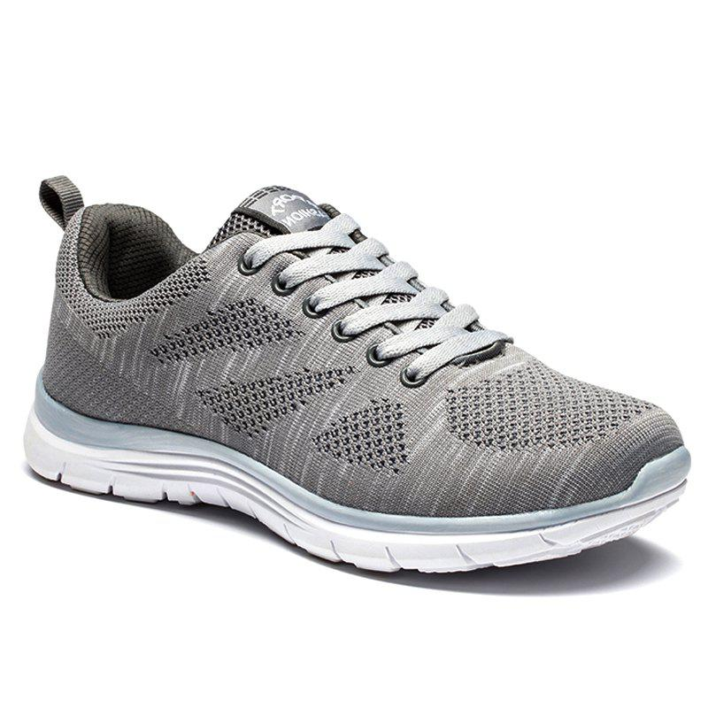 2018 Spring And Summer New Arrival Men Air Mesh Sports Shoes Gray 40
