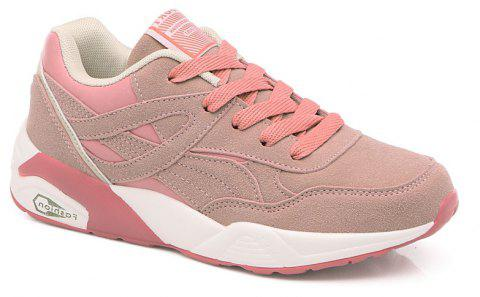 2018 Fashion Pig Leather Women Sports Shoes - PINK 36