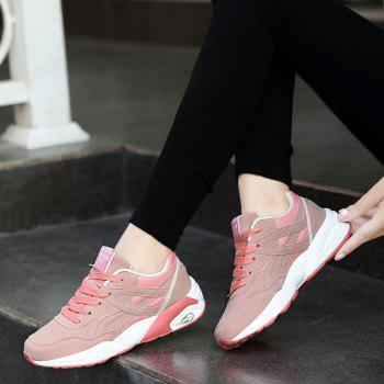 2018 Fashion Pig Leather Women Sports Shoes - PINK 39