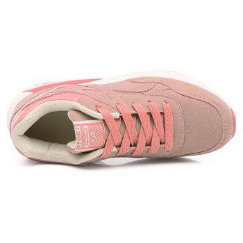 2018 Fashion Pig Leather Femmes Chaussures de sport - ROSE PÂLE 35