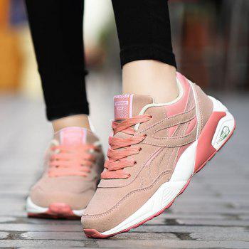 2018 Fashion Pig Leather Women Sports Shoes - PINK 35
