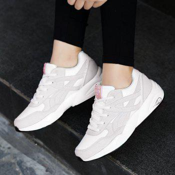 2018 Fashion Pig Leather Women Sports Shoes - WHITE 39