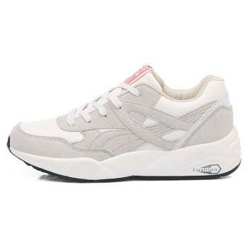 2018 Fashion Pig Leather Women Sports Shoes - WHITE 37