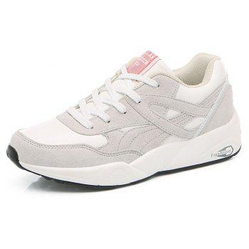 2018 Fashion Pig Leather Women Sports Shoes - WHITE 38