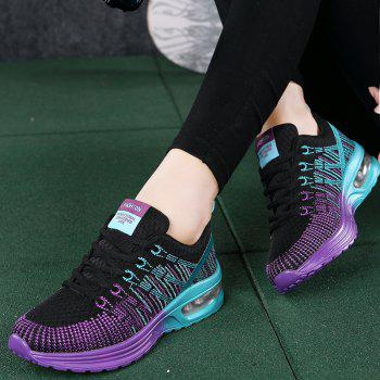 2018 Spring New Arrival Colorful Shoes for Women - BLACK/PURPLE 39