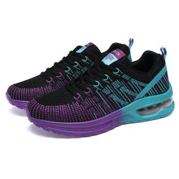 2018 Spring New Arrival Colorful Shoes for Women - BLACK/PURPLE 37