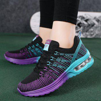 2018 Spring New Arrival Colorful Shoes for Women - BLACK/PURPLE 36