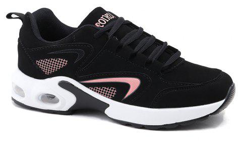 2018 Spring New Women Sneakers Hot Sale - BLACK/PINK 37